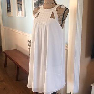 Elegant Cream Color Dress by Naked Zebra Size Med